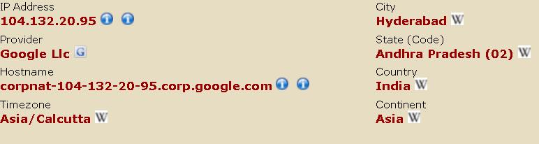 グーグルのアドセンス審査中のインドのグーグル社員によるアクセス履歴