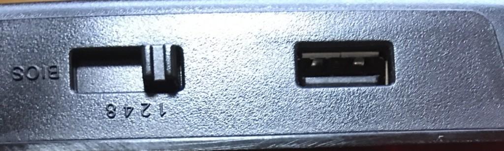 K70 LUX CherryMX Redに付いているUSBポート
