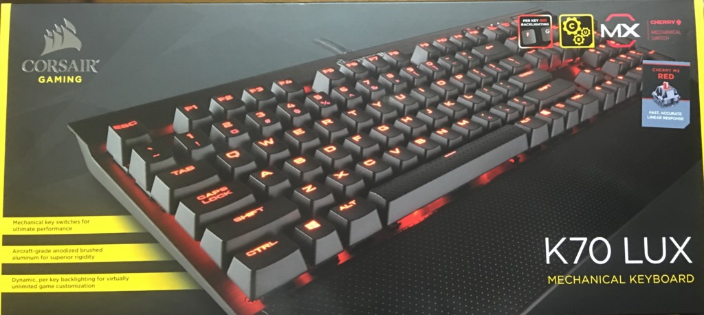 K70 LUX CherryMX Redの箱