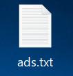 「新しいテキスト ドキュメント.txt」を「ads.txt」とファイル名を変更する