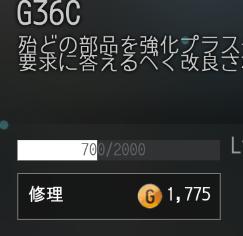 G36Cで修理をせずに使い続け13回目の修理費用