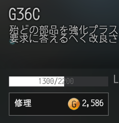 G36Cで修理をせずに使い続け19回目の修理費用