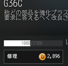 G36Cで修理をせずに使い続け21回目の修理費用