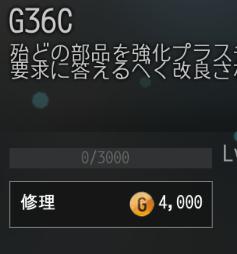 G36Cで修理をせずに使い続け28回目の修理費用