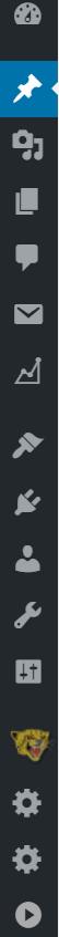 WordPressの管理画面の左サイドにあるメニューバーがアイコンだけ表示されている状態