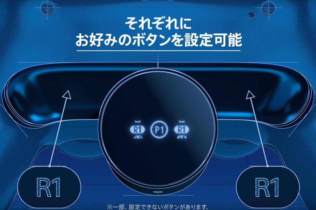 2つの背面ボタン(背面パドル)をそれぞれ好みのボタンに設定することが可能