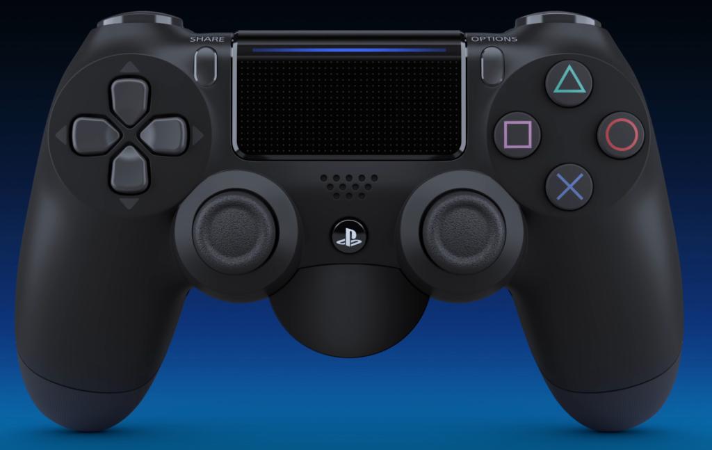PS4コントローラー(DUALSHOCK 4)の純正の背面ボタン(背面パドル)のアタッチメントはコントローラー下部にあるEXT端子とヘッドセット端子に装着して使う