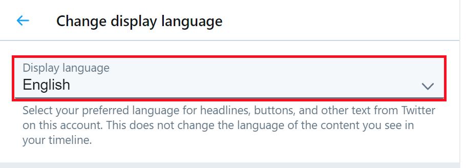 「Change display language」の中にある赤線で囲ったところをクリックして言語を変更していく