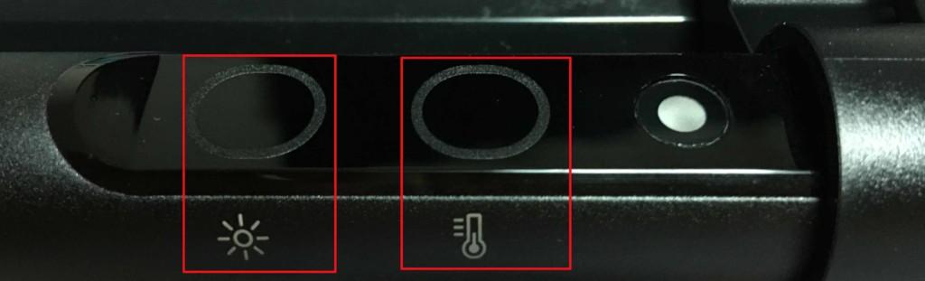 BenQ ScreenBarモニター掛け式ライトで手動で調光する際には明るさと色温度の調整をするそれぞれのボタンをタッチすることで細かく調整する
