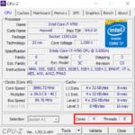 CPUID CPU-Zを使うことで簡単に自分が今使っているCPUのコア数とスレッド数を確認することができます。