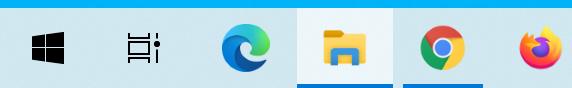 タスクバーのWindowsのスタートボタンとタスクビューとの間にあった検索ボックスをこのように非表示にすることができます。