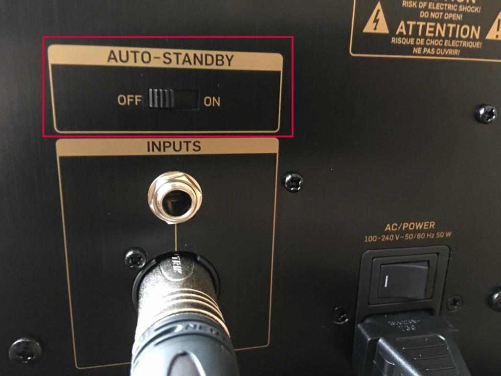 TANNOY GOLD 5にあるAUTO-STANBY機能はオフにしておくのがおすすめ