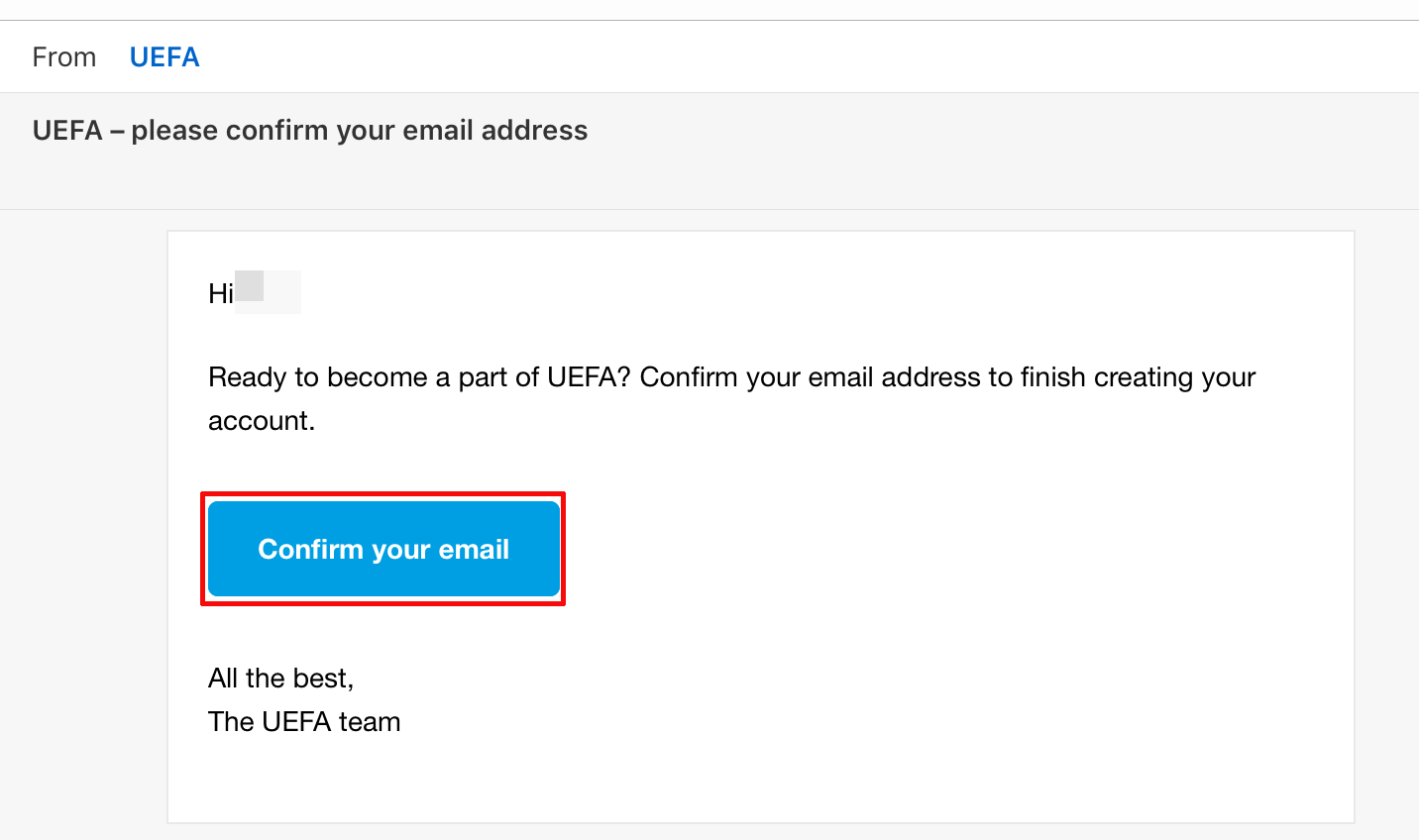 登録したメールアドレスに届いたメールを開いてその中にある【Confirm your email】をタップします。