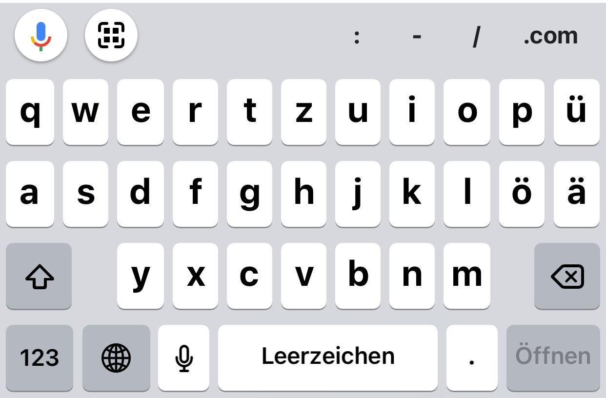 文字入力のキーボードの一覧へドイツ語を追加する方法