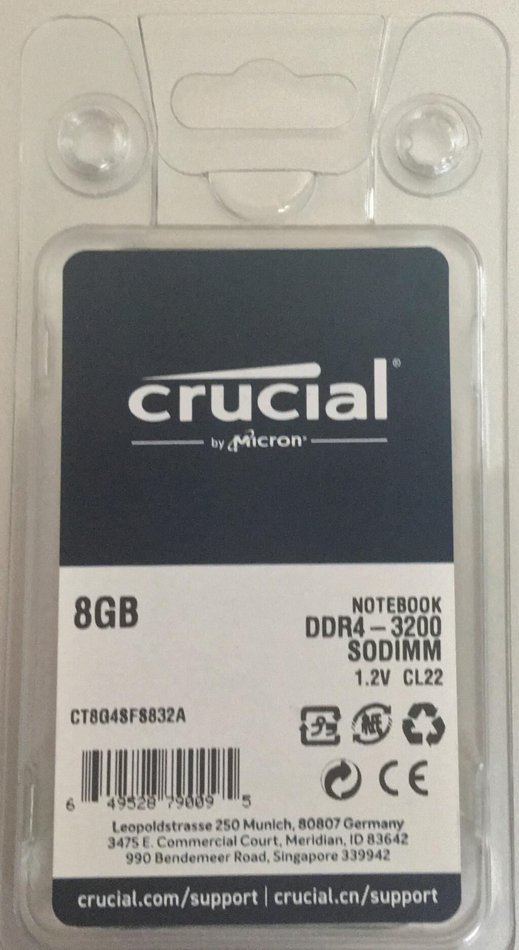 Dell Inspiron 15 5505へ増設したメモリ