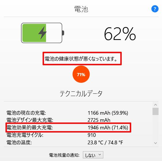 5年近く使用しているiPhoneのバッテリーの状態(劣化具合)