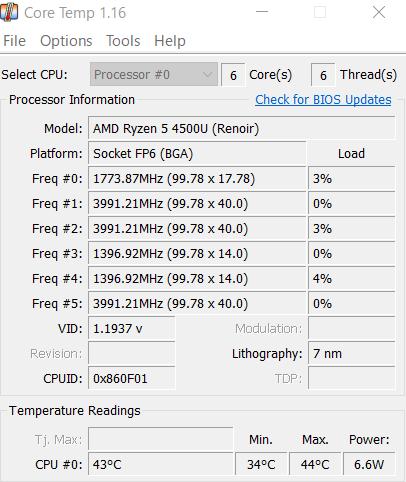 Windows 10でCPUの温度を確認することができる無料ソフトである「Core Temp」