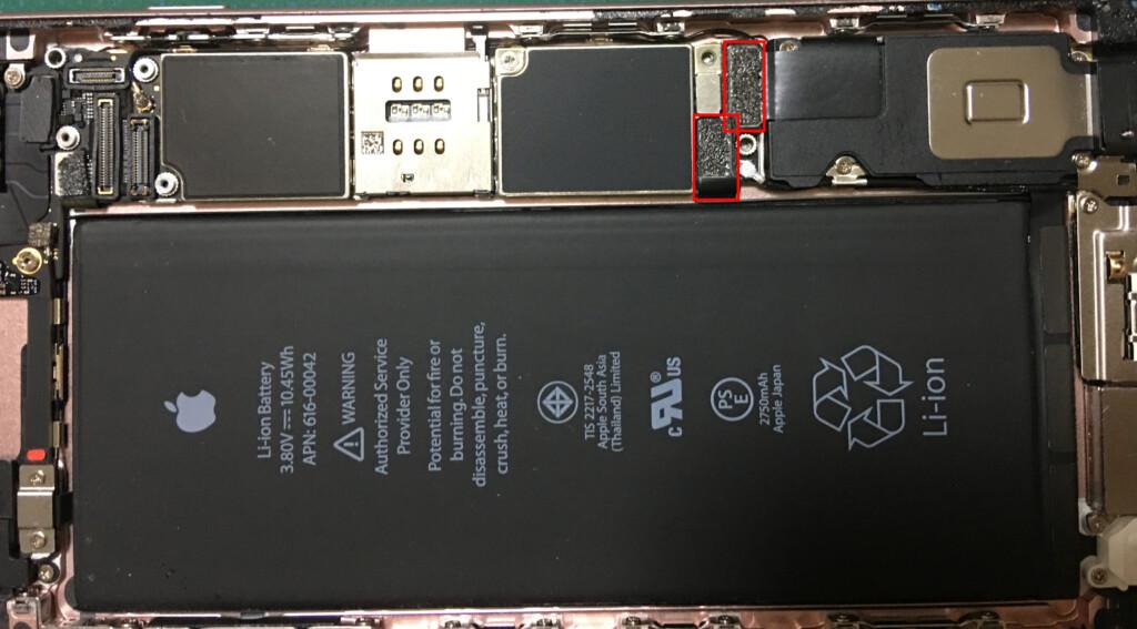 ⑩本体とバッテリーとを繋いでいるコネクターを外す