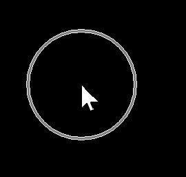 白い背景内では黒色の円で、黒い背景内では白色の円でといったように、背景内の色と被らいない色の円でマウスポインターの位置を知らせてくれます